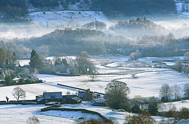 A frosty morning in Easedale near Grasmere in the Lake District National Park, Cumbria, England, United Kingdom, Europe