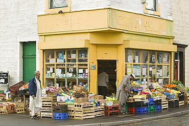 An Asian corner shop in Burnley, Lancashire, England, United Kingdom, Europe