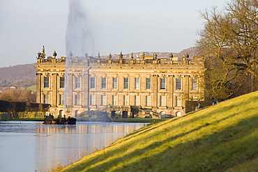 Chatsworth House in Derbyshire, England, United Kingdom, Europe