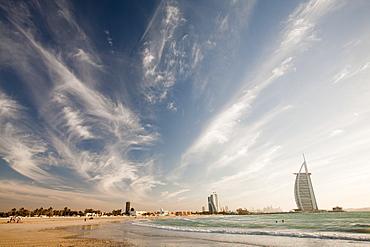 The iconic Burj al Arab hotel in Dubai, United Arab Emirates, Middle East
