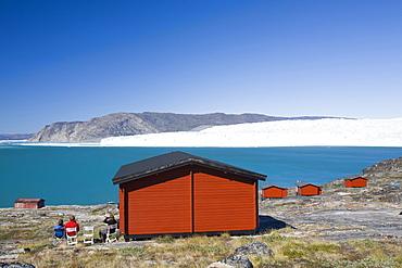 Camp Victor at Eqip Sermia on the west Greenland coast north of Ilulissat, Greenland, Polar Regions