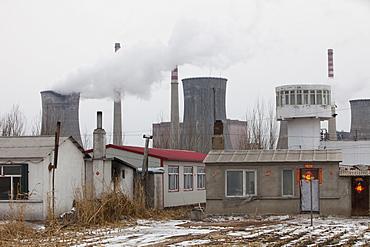 Coal fired power station in Harbin, Heilongjiang Province, China, Asia