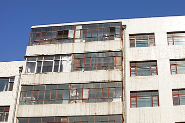 An old apartment block in Suihua, Heilongjiang province, China, Asia