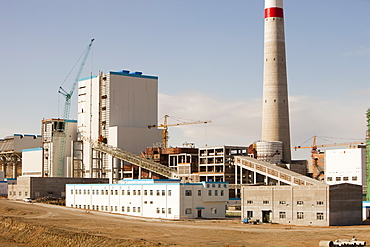 A coal fired power plant being constructed in Inner Mongolia, China, Asia