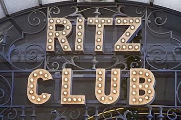 The Ritz Club in London, England, United Kingdom, Europe