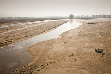 River just north of Beijing in Heilongjiang province, China, Asia