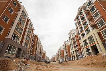 New apartment blocks in Dongsheng, part of Ordos city, Inner Mongolia, China, Asia