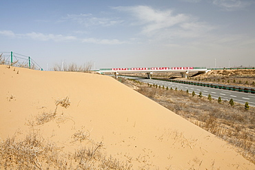 Ever drier conditions and creeping desertification in Shanxi province, China, Asia