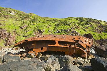 The Shipwreck of the Johanna at Hartland Point in Devon, England, United Kingdom, Europe