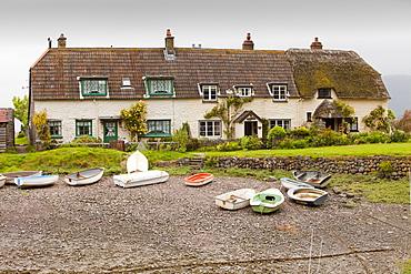 Porlock Weir on the Somerset coast, England, United Kingdom, Europe