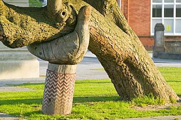 A sculpture in Bideford, Devon, England, United Kingdom, Europe