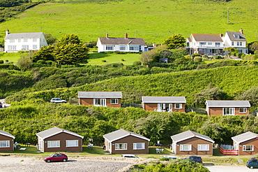 Holiday chalets at Braunton Burrows, Devon, England, United Kingdom, Europe