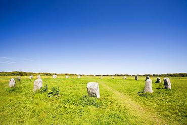 The Merry Maidens stone circle near Lamorna Cove in Cornwall, England, United Kingdom, Europe