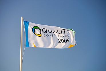 Quality Coast Award flag, Morecambe, Lancashire, England, United Kingdom, Europe