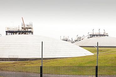 Gas storage depot in Barrow in Furness, Cumbria, England, United Kingdom, Europe