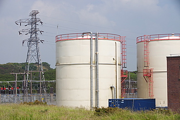 A gas powered power station at Barrow in Furness, Cumbria, England, United Kingdom, Europe