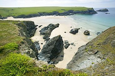 Porth Joke at Pentire Point, Cornwall, England, United Kingdom, Europe