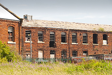 Derelict industrial buildings in Barrow in Furness, Cumbria, England, United Kingdom, Europe