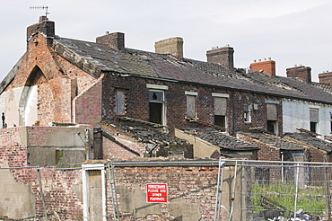 A rundown area of Blackburn, Lancashire, England, United Kingdom, Europe