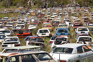 Flynns Wrecking Yard near Cooma in New South Wales, Australia, Pacific