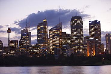 Sydney city centre at dusk, Sydney, New South Wales, Australia, Pacific