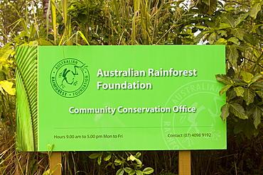 The Headquarters of the Australian Rainforest Foundation in the Daintree rainforest, Queensland, Australia, Pacific