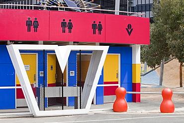 Modern public toilets in Melbourne, Victoria, Australia, Pacific