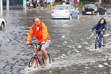 Torrential rain in 2010 in Melbourne, Victoria, Australia, Pacific