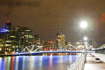 The Seafarers Bridge, a modern footbridge acorss the Yarra River in Melbourne, Victoria, Australia, Pacific