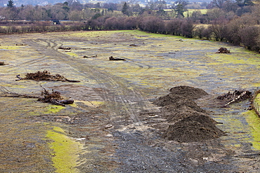During the November 2009 floods, Newlands Beck near Keswick changed its course and deposited millions of tons of debris on farmers fields, Lake District, Cumbria, England, United Kingdom, Europe