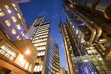 The Lloyds Insurance building in the City of London, England, United Kingdom, Europe