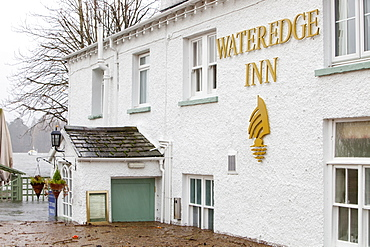 The Water Edge Hotel in Ambleside flooded out when Lake Windermere reached its highest ever recorded level, Ambleside, Lake District, Cumbria, England, United Kingdom, Europe