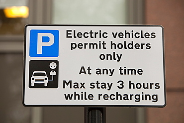 An electric vehicle recharging Juice Point in Westminster, London, England, United Kingdom, Europe