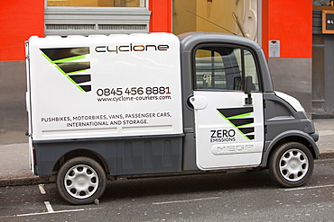 A Mega van electric vehicle in Westminster, London, England, United Kingdom, Europe