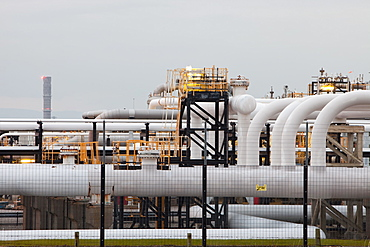 Centrica's gas plant in Barrow in Furness, processing gas from the Morecambe Bay gas field, Cumbria, England, United Kingdom, Europe