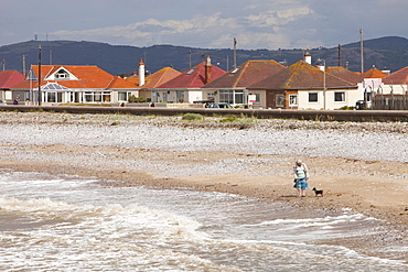 The area of the North Wales coast between Prestatyn and Abergele which was reclaimed from an ancient salt marsh, and is flat, low lying and susceptible to coastal flooding, Wales, United Kingdom, Europe