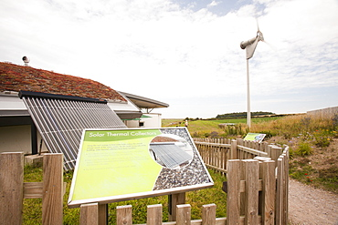The Norfolk Naturalists Trust visitor centre at Cley, on the North Norfolk Coast, Norfolk, England, United Kingdom, Europe