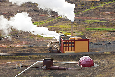 Krafla geothermal power station near Myvatn, Iceland, Polar Regions
