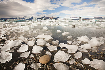 Jokulsarlon ice lagoon is one of the most visited places in Iceland, Polar Regions