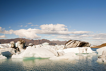 Jokulsarlon ice lagoon, one of the most visited places in Iceland, Polar Regions
