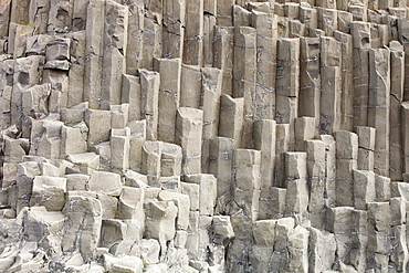 Columnar jointing in Basalt at Vik on Iceland's south coast, Iceland, Polar Regions