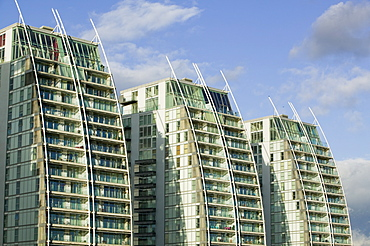 Apartment blocks in Salford Quays, Manchester, England, United Kingdom, Europe
