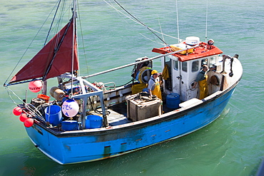 Boatsin Hugh Town harbour, St. Mary's, Scilly Isles, United Kingdom, Europe