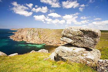 Cornish coastal scenery at Gwennap Head looking towards Lands End, Cornwall, England, United Kingdom, Europe