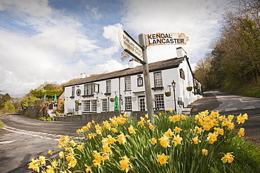 The Brown Horse pub in Winster, Cumbria, England, United Kingdom, Europe