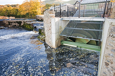 The Settle hydro scheme, a small scale hydro project owned by a community provident project that will generate 180,000 Kwh of green electricity per year, Yorkshire, England, United Kingdom, Europe
