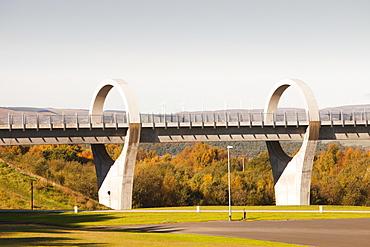 The Falkirk Wheel at Falkirk in Scotland, United Kingdom, Europe
