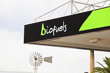 A bio fuel petrol station in Ecija, Andalucia, Spain, Europe