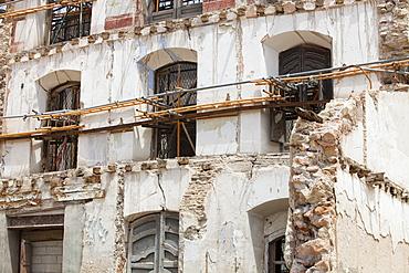 Earthquake damage, Lorca, Andalucia, Spain, Europe