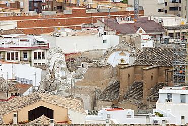 Church destroyed in an earthquake, Lorca, Andalucia, Spain, Europe